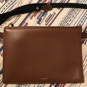 Brown leather JOSEPH waist pouch